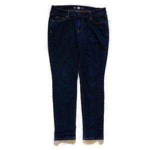 Old Navy Dark Wash Skinny Jeans-10 Short